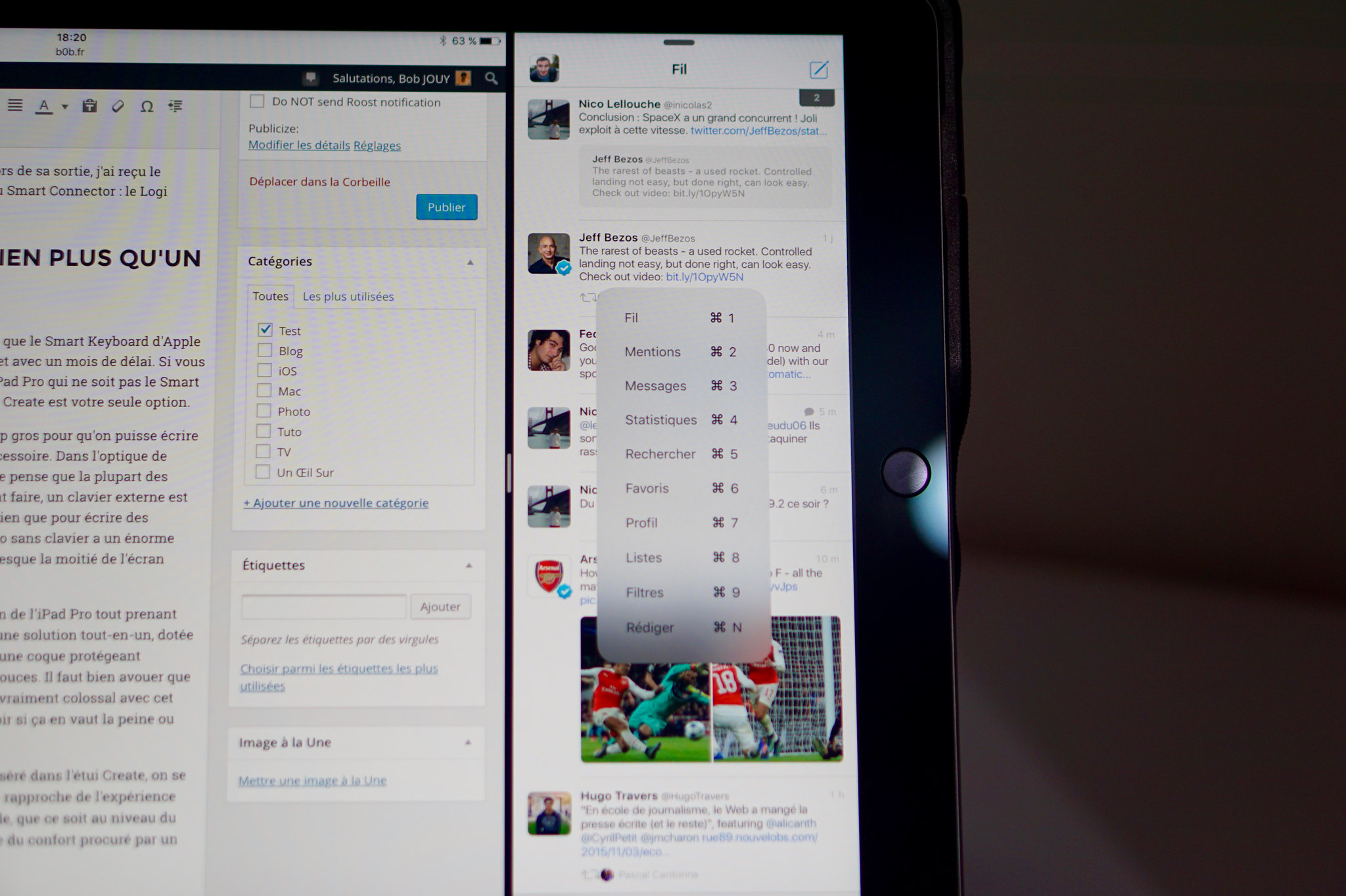 Test du clavier Logi Create pour iPad Pro