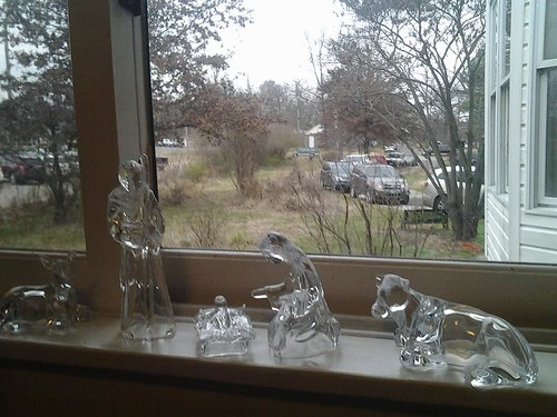 glass nativity