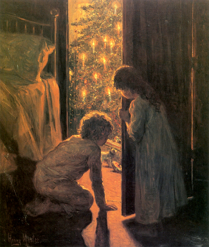 Christmas Morning by Henry Mosler - circa 1916