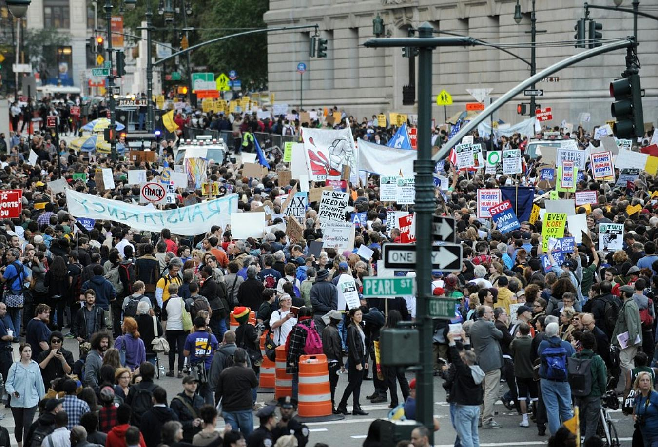 OWS big march by Seth Wenig