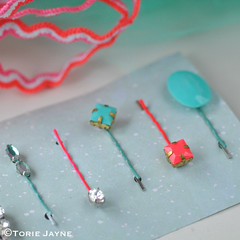 DIY neon & mint bobby pins
