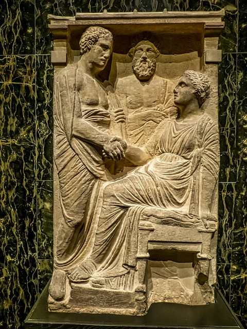Grave Stele from a district near Athens, perhaps Halai Greek Mid-4th century BCE Marble