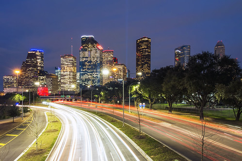 city cityscape citylights canon canon70d hou htx htown houston houstontx houstontexas texas tx longexposure raulcano skyline sunset bluehour skyscrapers skyscraper superbowl superbowl51