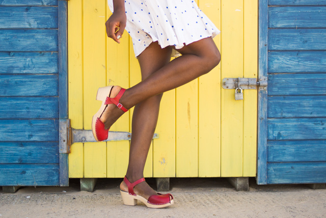 Swedish Hasbeens red heart sandals