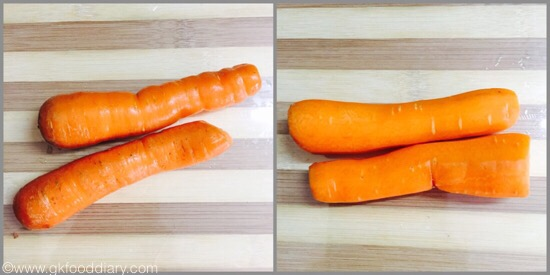 Carrot puree for babies - step 1