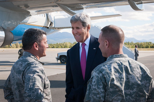 Secretary Kerry Arrives in Anchorage to Participate in the GLACIER Conference
