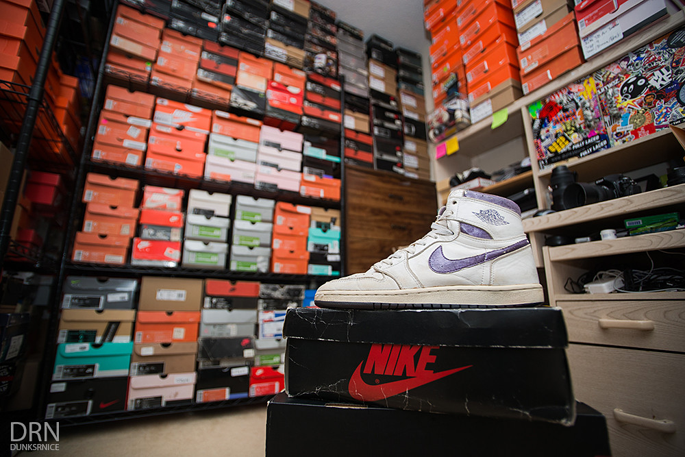 1985 Metallic Purple/White I's & Shoe Boxes