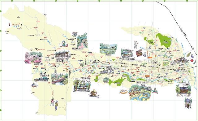 あきるの野市20週年記念誌_イラストマップ