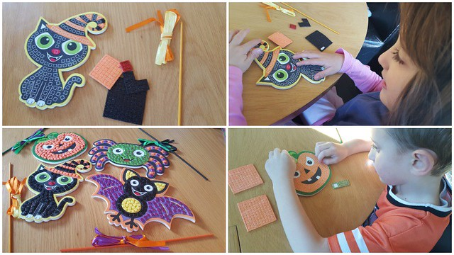 Halloween Mosaic Wand Kit Collage, Halloween crafts, Baker Ross, arts and crafts