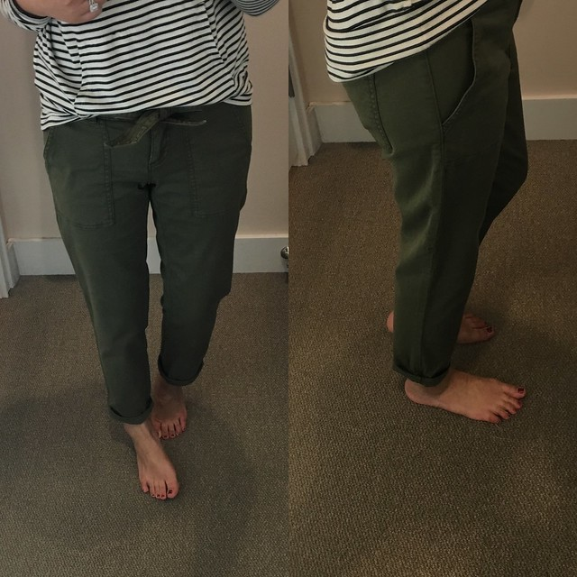LOFT Relaxed Utility Pants, size 00/24P