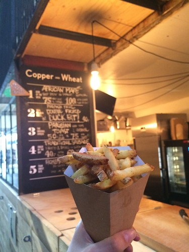 Copenhagen Street Food at Paper Island Copper + Wheat fries double fried in duck fat