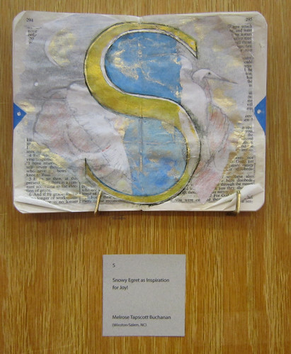 Bible Versals exhibit - Letter S