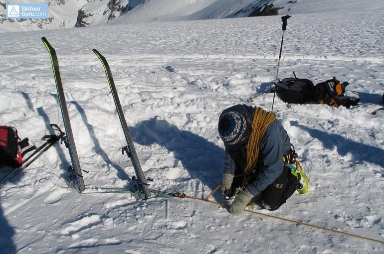 Jisticí stanoviště ve sněhu