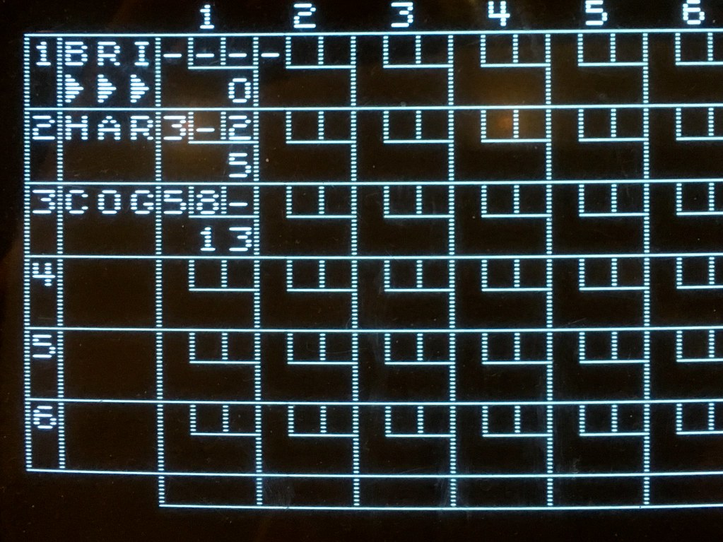 A picture of digital scoreboard for bowling