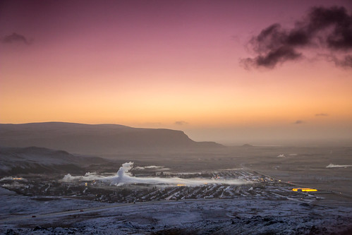 red sky sun white snow yellow clouds sunrise canon iceland amazing reykjavik rise lanscape selfoss hveragerði