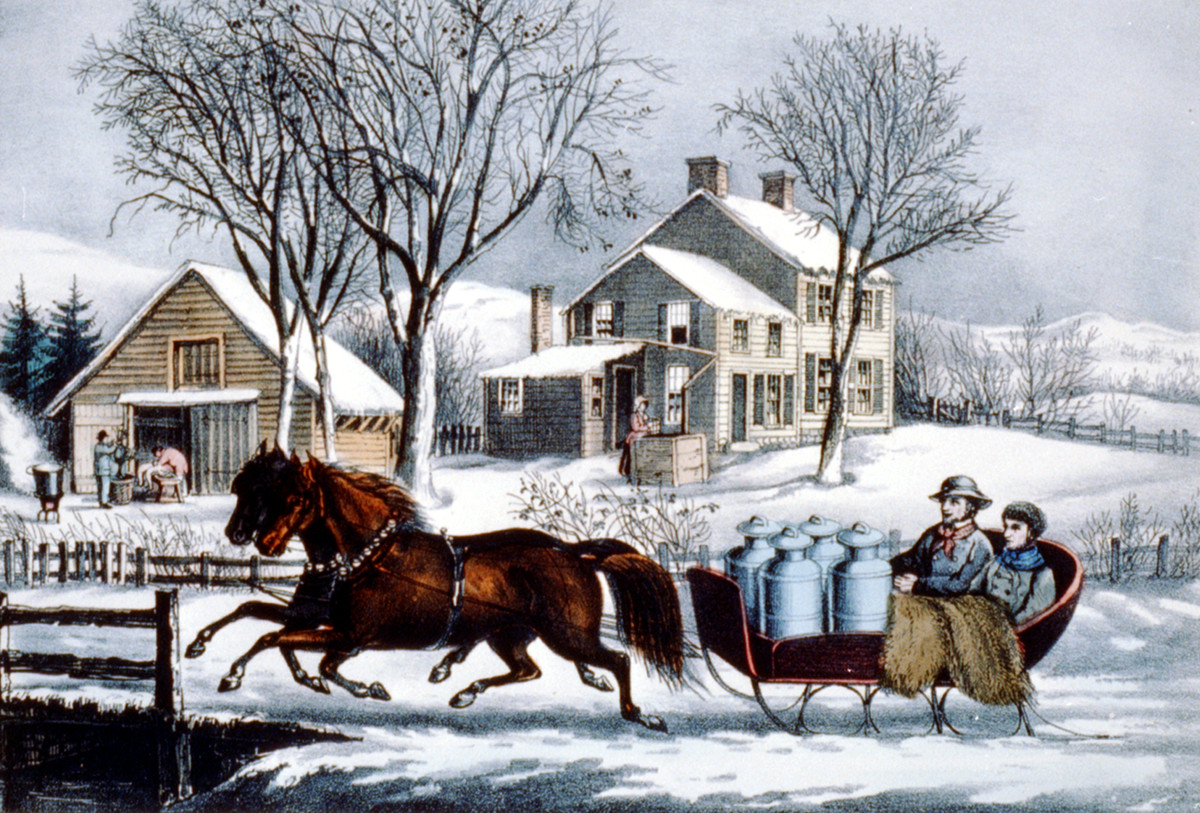 Winter morning in the country. Published by Currier & Ives, c1873