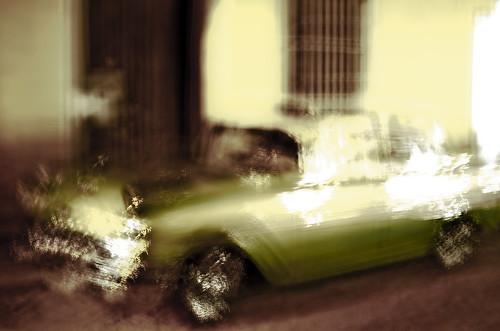chevrolet chevroletbelair bel air 1957 car vehicle oldtimer wheels intentionalcameramovement icm blur light evening street streetlight trinidad cuba speed movement chevy