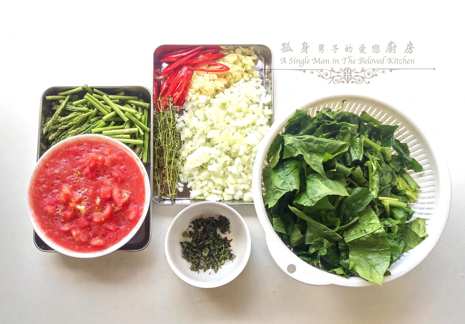 孤身廚房-一鍋到底!香辣蕃茄蘆筍菠菜細扁麵4