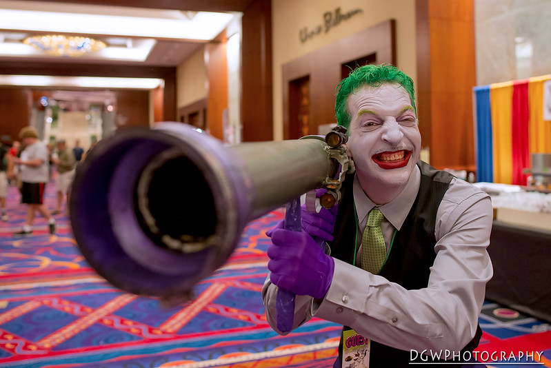 The Joker has a really big gun..