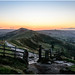 Sun rise on Mam Tor, Derbyshire, UK by OneTrack