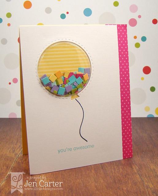 Jen Carter Lattice Balloon Shaker 15 wm
