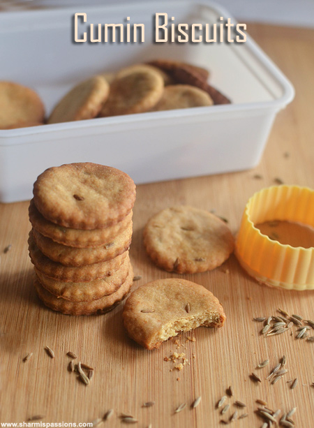 Eggless cumin cookies recipe