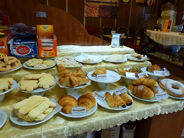buffet de croissants