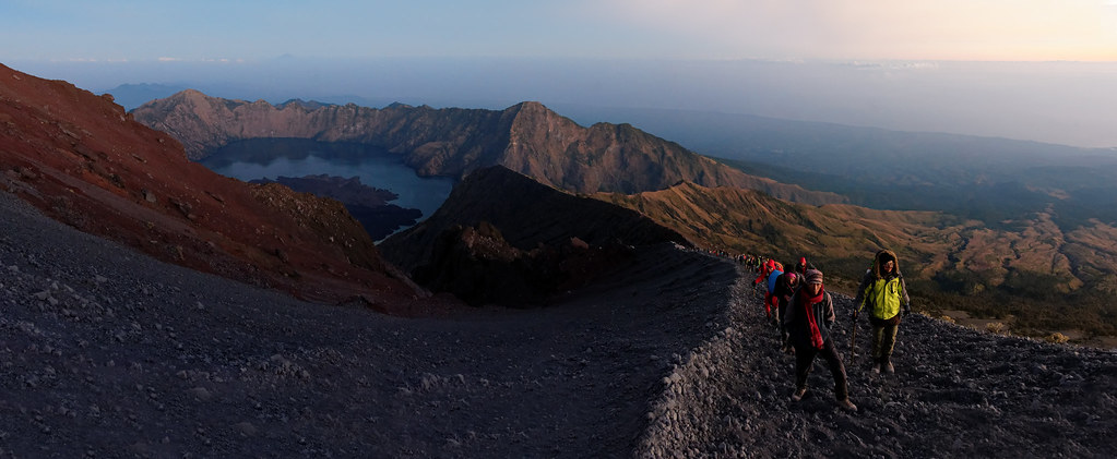 On the rinjani summit