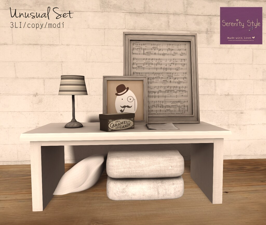 Serenity Style- Unusual Set WHITE
