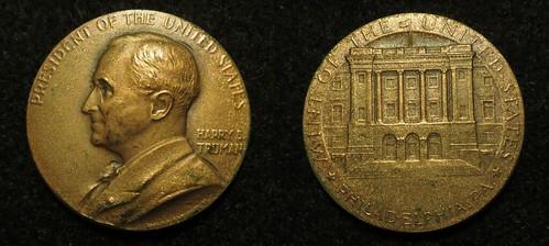 Truman undated Mint visit souvenir medal