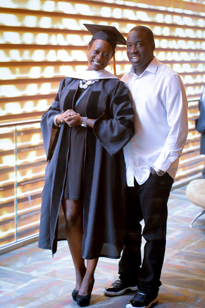 My Sistren and I at her Graduation