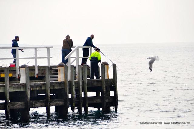 Fishing at Portsea