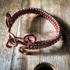 #oneofakind #handmade #copper #bracelet by #tyrone_dejesus @ #tyandistudio