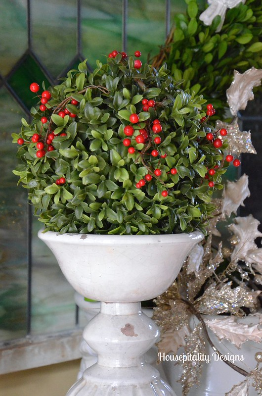 Faux topiary ball - Housepitality Designs