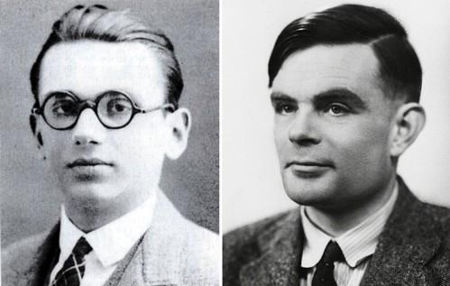 Kurt Gödel y Alan Turing