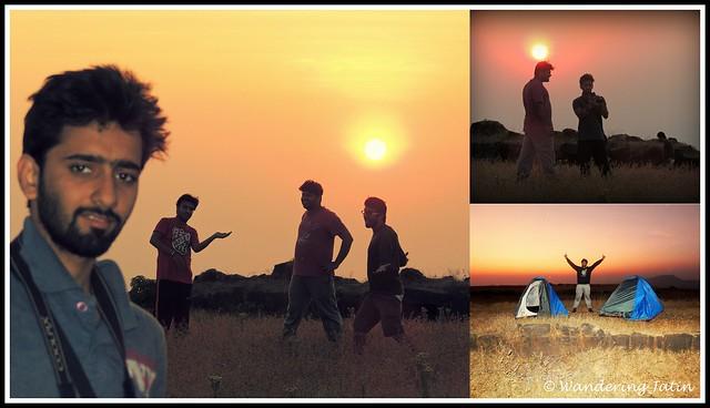 Sunset at Rajgad fort