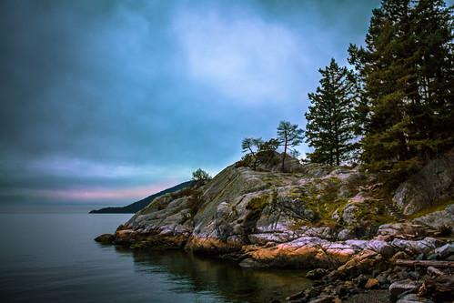 sea canada vancouver landscape pacific northwest britishcolumbia rocky coastline whytecliffpark