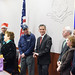 Rep. Mark Tweedie (Manchester, Glastonbury) attends a press conference in the LOB to mark the end of the 2015 Rocky Hill Veterans Home Secret Santa gift drive, Dec. 2015.