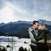 engagement photo in Swiss Alps