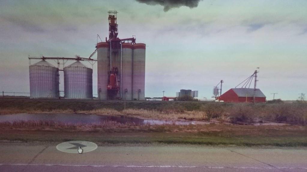 Pioneer in the Prairie. #ridingthroughwalls #xcanadabikeride #googlestreetview