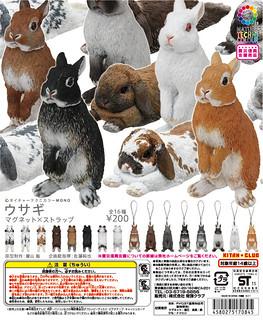 """最強""""自然色彩動物轉蛋系列""""「小兔 磁鐵×吊飾」【再次販售!】"""