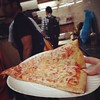 A hot $.99 slice to top off a lovely evening of museum-ing! #weekend #latergram #nyc #pizza #food #cheapeats