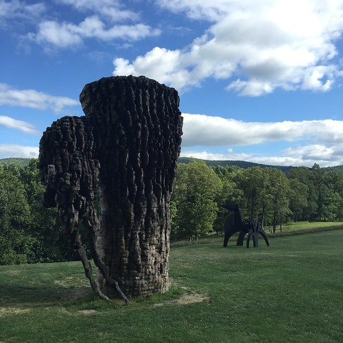 Wood Structure & Horse at Storm King Art Center