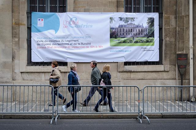 Journées européennes du patrimoine du 19 au 20 septembre 2015 (Hôtel de Castries - Paris)