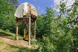 Carte de France touristique - Dormir dans une cabane en forêt