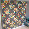 A weekend quilt top finish on the blog today. #splitpersonality #christmasquilt #sewkatiedid