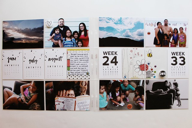 june, july, august 2015 layouts :: pocket memory keeping / project life