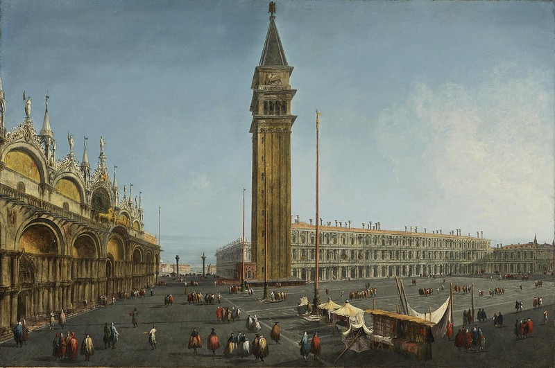 Michele Marieschi - The Piazza San Marco, Venice, from the Torre dell' Orologio