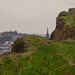 Edinburgh Castle behind the Salisbury Crags