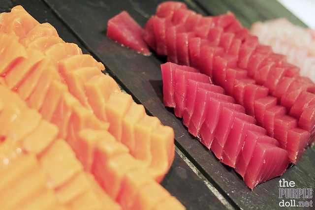 Japanese Salmon, Tuna and Hamachi Sashimi